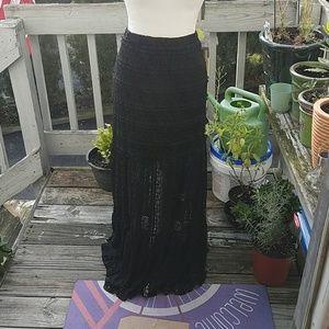 🖤 Gothic Lace Black Skirt